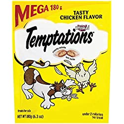 Temptations Classic Cat Treats Tasty Chicken Flavor, (10) 6.3 Oz. Pouches