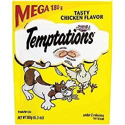 Temptations Classic Cat Treats Tasty Chicken Flavor, (10) 6.3 Oz. Pouches
