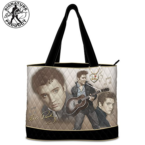 Elvis Burning Love Women's Quilted Tote Bag by The Bradford Exchange