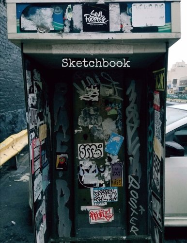 Sketchbook  8 5 X 11 Large Sketchbook   Phone Tag  Front Cover  Black Back Cover  Blank Drawing Book  Notebook  A4 Sketch Pad  Bound Sketchbook  100 Durable Blank Pages  New York Shots   Volume 27