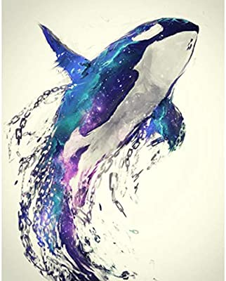 DIY 5D Diamond Painting,Diadia Full Crystal Rhinestone Diamond Embroidery Paintings Pictures Arts Cross Craft Fairy Cross Stitch Wall Decals Dolphin