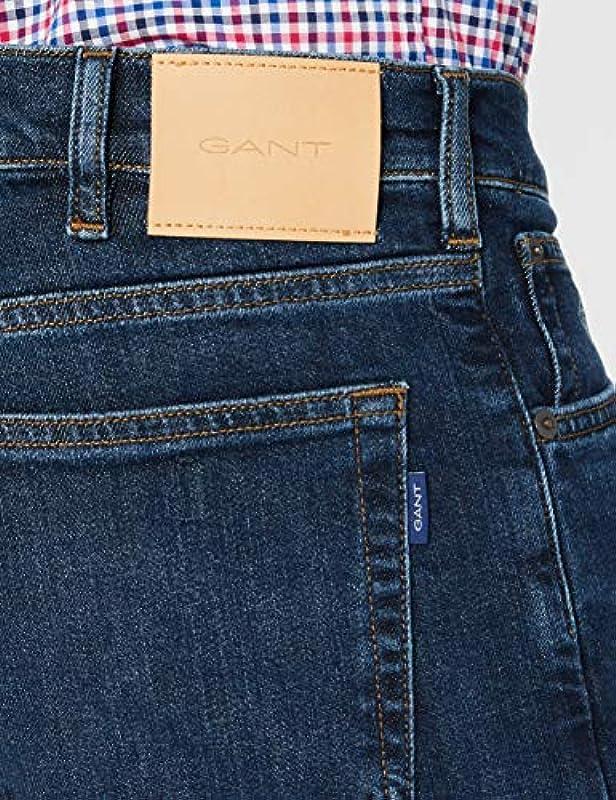 GANT Męskie spodnie rekreacyjne typu Regular Jeans: Odzież
