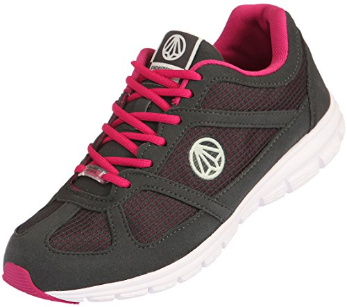 Paperplanes-1201 Unisex Super Light Weight Mesh Walking Sneakers 1203-Dark Gray Wine R287J