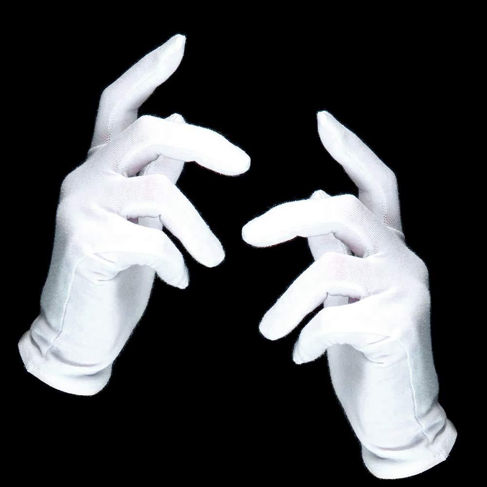 Magicien┃100 /% Polyester┃1 Paire Gants Blancs German Trendseller/® 1 x Gants Blancs Deluxe┃Pantomime┃Saint Nicolas P/ère No/ël