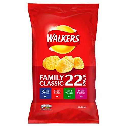 Walkers Classic Variety Crisps 22 X 25G