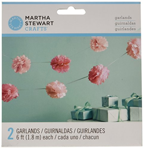 Martha Stewart Crafts Garland, Pink Pom Pom Small (Garland Craft)