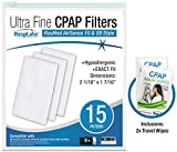 RespLabs CPAP Filters Compatible with ResMed AirSense, AirCurve - S9, AirStart, Autoset 10 | Disposable Universal Replacement Elite Air Filter Kit [15 Pack]