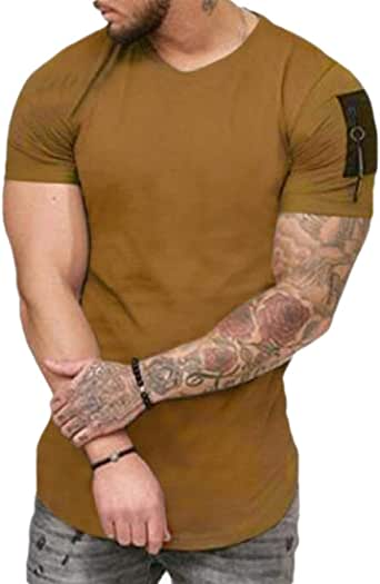 GAGA Men Workout Short Sleeve Gym Training Bodybuilding Muscle Fitness T Shirts