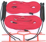 Home Court Volleyball Non-Adjustable Sand Boundary Web, Red, 1''
