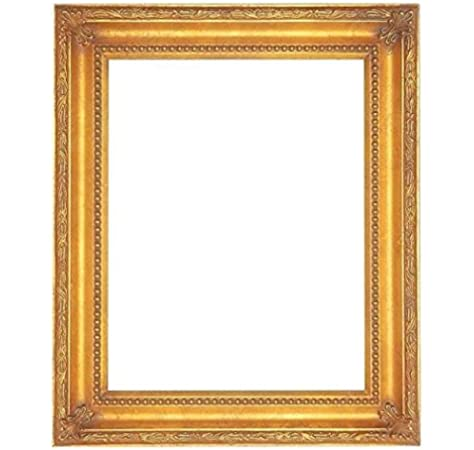 Size 11x14 inches Gold Leaf with Red Wood Frame Antique Classic Style
