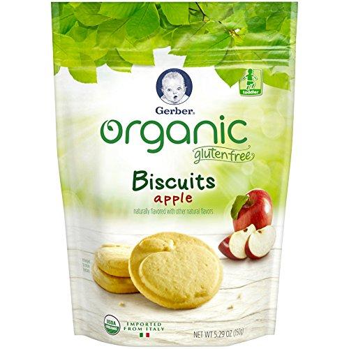 Gerber Graduates Organic Gluten Free Biscuits, Apple, 5.29 oz by Gerber Graduates