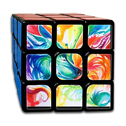 Two Rainbow Wolves 3x3 Smooth Speed Magic Rubiks Cube Magic Cube Puzzles Puzzles (Yellow Rat Snake)