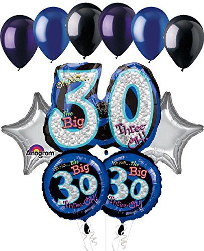 11 Pc Oh No The Big 30 Happy Birthday Balloon Bouquet Decoration Party 30th