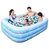 L&J Pvc Rectangular Inflatable Baby Swimming pool Durable Paddling pools-A