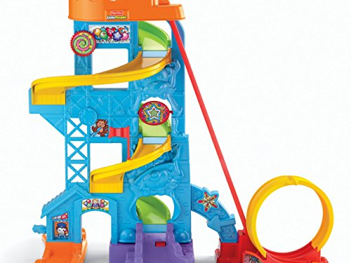 51LwhL8n4dL - Fisher-Price Little People Loops 'n Swoops Amusement Park [Amazon Exclusive]