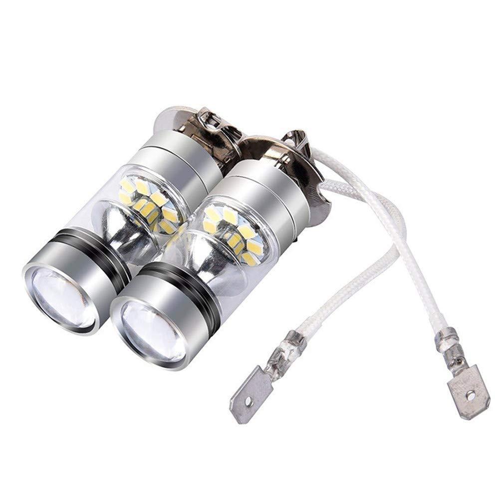 Lanbowo H3 - Luz antiniebla LED (100 W, Muy Brillante, para Coche), Color Blanco: Amazon.es: Coche y moto