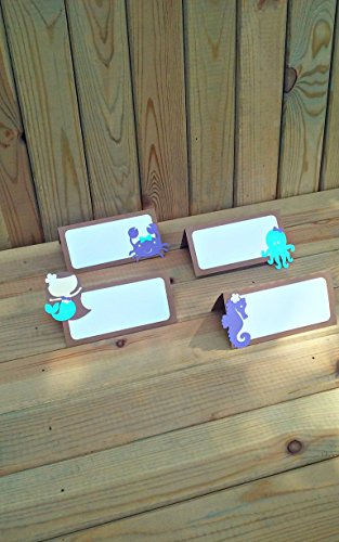 Mermaid-Place-Cards-food-tents-under-the-sea-party