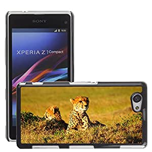 GoGoMobile Slim Protector Hard Shell Cover Case // M00123660 Cheetah Africa Animal Kenya Wildlife // Sony Xperia Z1 Compact D5503