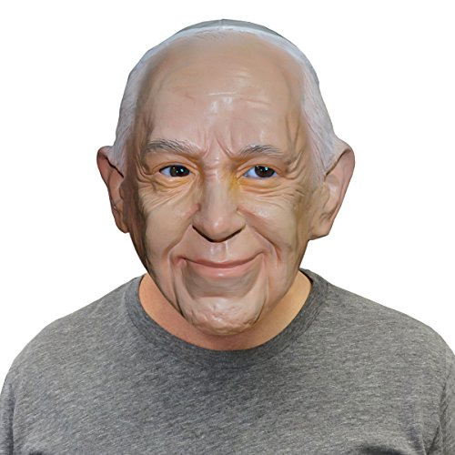 Off The Wall Halloween Costumes (Pope Francis Catholic Pope Halloween Face Mask - By Off the Wall Toys)