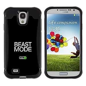 iKiki Tech / Estuche rígido - Beast Mode Exercise Rogan Black Text - Samsung Galaxy S4 I9500