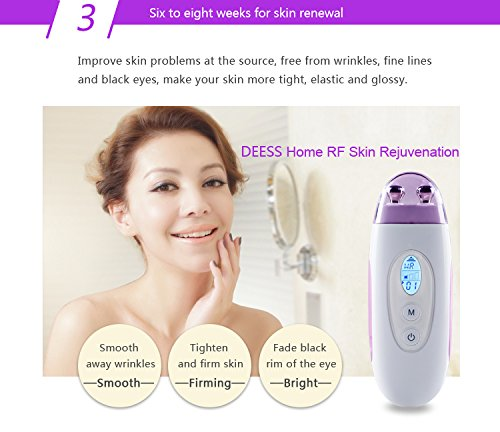DEESS facial lift toner Demi, radio frequency skin care beauty device at home.Corded Design,No down Time.