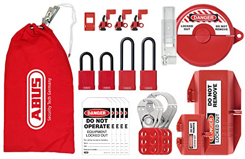 ABUS K915 Safety Lockout Tagout Personal Cinch Safety Bag...