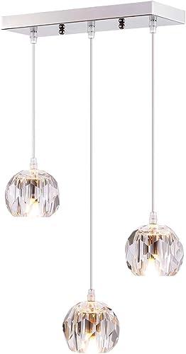 Fancy 3-Light Crystal Globe Pendant Lighting