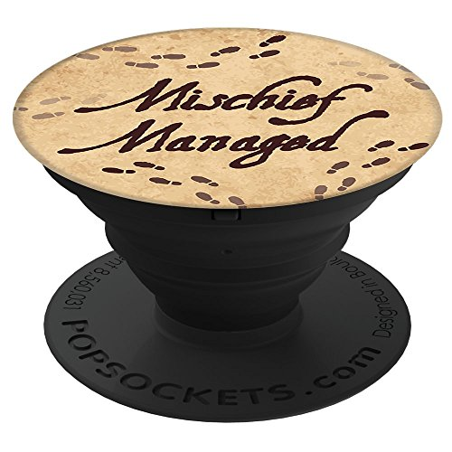 Brave New Look Footprints Mischief Managed Pop Sockets Stand for Smartphones and Tablets by Brave New Look
