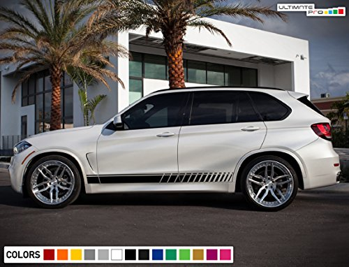 Decal Sticker Vinyl Side Sport Stripe Kit Compatible with BMW X5 2013-2017 (Decals Stripes Kit)