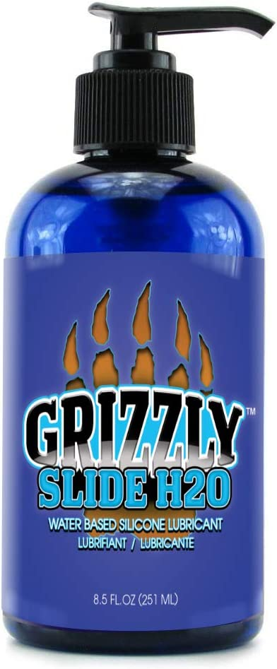 Nature Lovin' Grizzly Slide H2O Water Based Premium Personal Lubricant, 8.5 oz Glycerin and Paraben Free