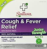 Similasan Cough & Fever Relief, 40 Tablets Each (Pack of 4)