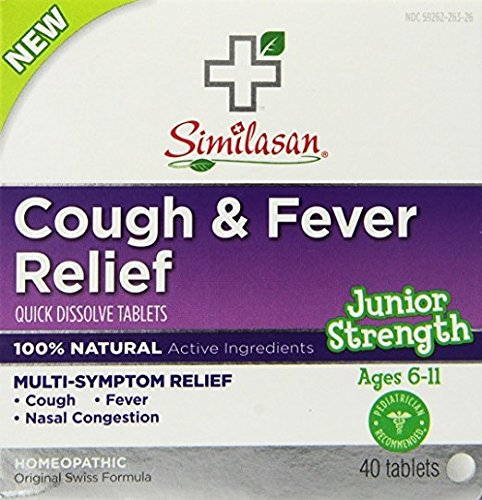 Similasan Cough & Fever Relief, 40 Tablets Each (Pack of 7)