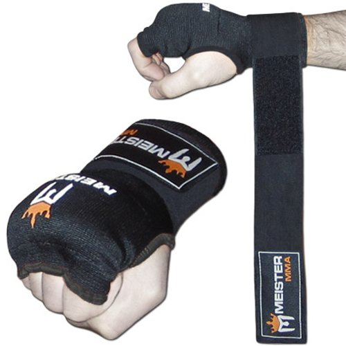 Padded Knuckle (Meister Padded ProWrap Hand Wrap Gloves (Pair) - Large/X-Large)