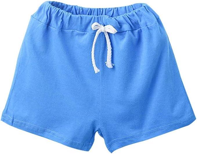 Azul Pantal/ón Corto para ni/ños El Ni/ño Denim con cord/ón