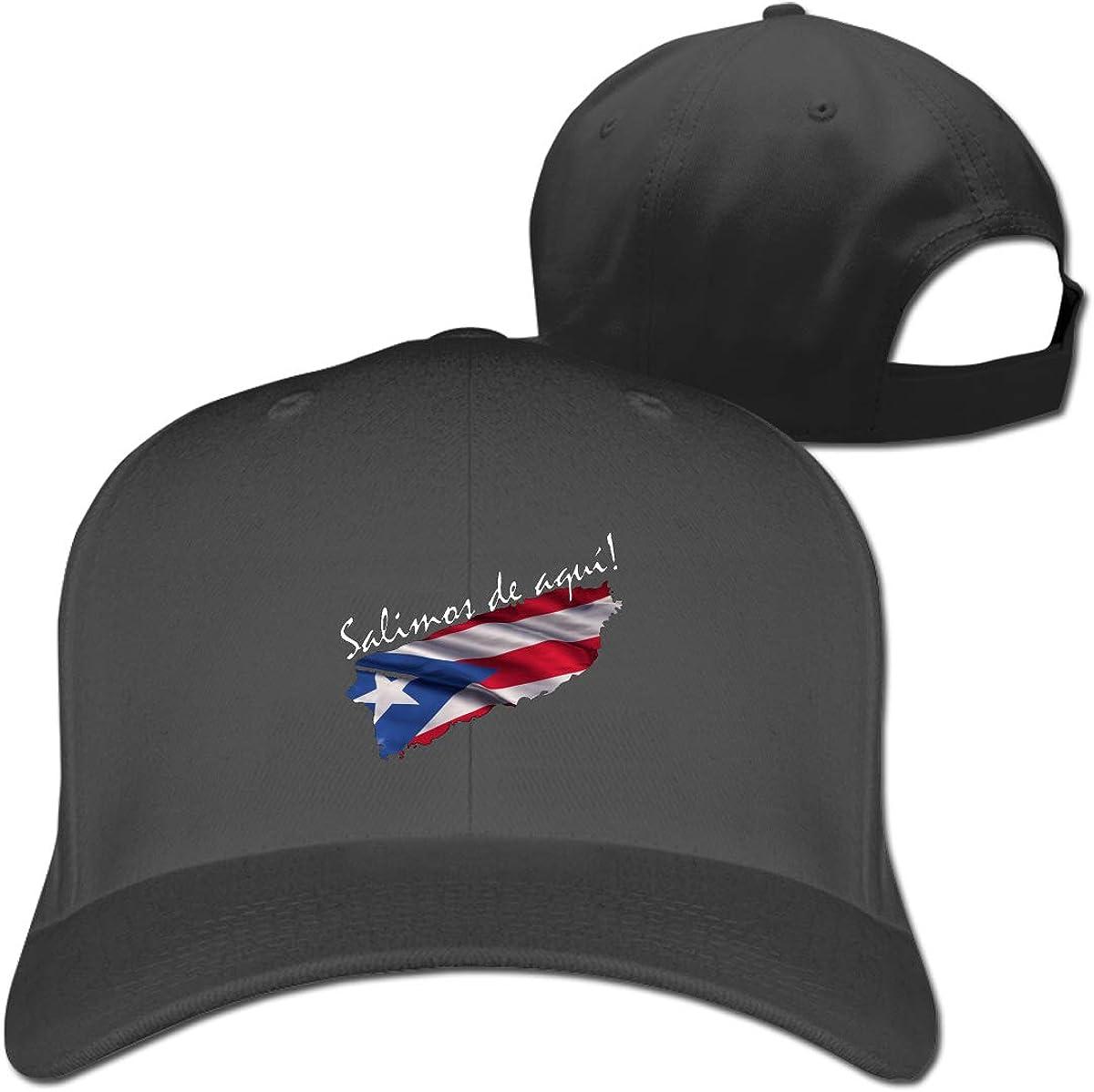 Salimos De Aqu铆 Fashion Adjustable Cotton Baseball Caps Trucker Driver Hat Outdoor Cap Black