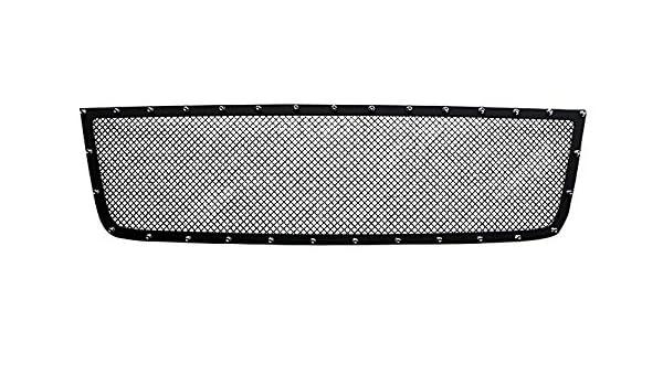 Fits CHEVY SILVERADO 2500//3500 05-06 UPPER BLACK STEEL WIRE MESH GRILLE
