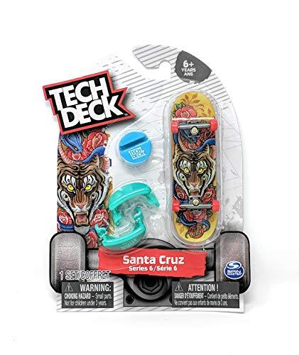 Tech Deck Santa Cruz Skateboards Series 6 Steve Alba Tiger Fingerboard - Starter Board with Trainer Clips