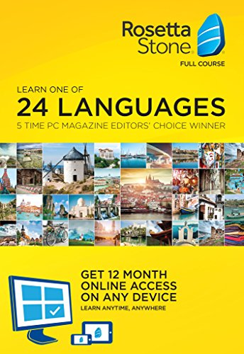 Rosetta Stone Learn Languages  1 User  12 Month Subscription