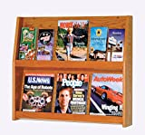 Wooden Mallet Slope 12 Pocket Literature Display Rack 2Hx6W Medium Oak electronic consumers