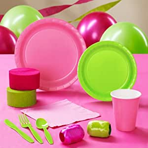 Lime Green & Hot Pink Standard Pack for 24