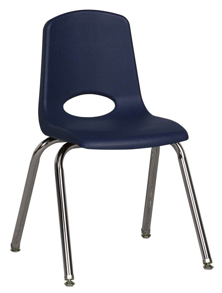 ECR4Kids Stack Chair in Navy - Set of 6