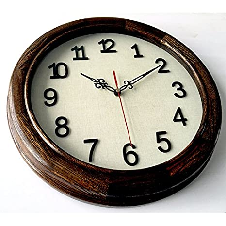 Komo silencioso Moderno Decoración Adorno para Hogar Moderno Reloj de Pared Reloj de Cuarzo de Silencio de Madera salón Dormitorio Relojes 635YS14 en ...