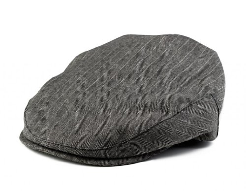 Born To Love Boy's Pinstripe Driver Cap- (XXS 46CM) - Pinstripe Wool Hat