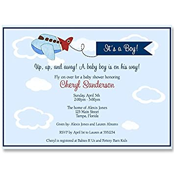 Amazon airplane baby shower invitations up up and away airplane baby shower invitations up up and away invites little pilot baby boy filmwisefo