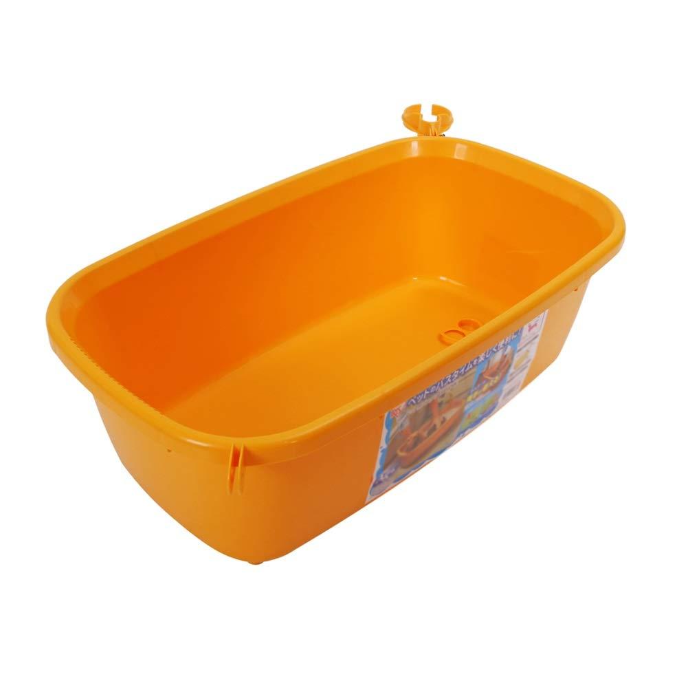orange Ryan Dog Bath Tub, Skin Medicine Bathtub PP Material Pet Bath For Small And Medium Dog Baths tub (color   orange)