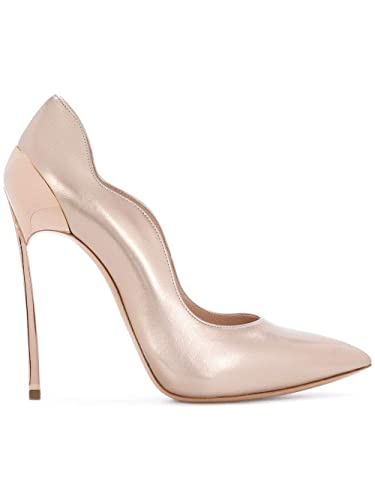 bbbe3c050c7f Image Unavailable. Image not available for. Color  Casadei Women s  1F316k120my024970 Pink Leather Pumps