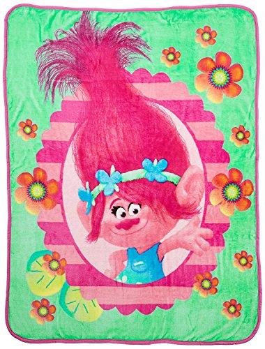 """Northwest DreamWorks Trolls Flower Power 40"""" x 50"""" Silk Touch Throw"""