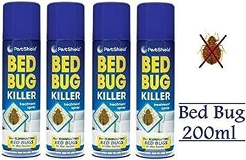 (4 unidades) - Cama Bug Killer Spray 200 ml - por pajee TM: Amazon.es: Jardín