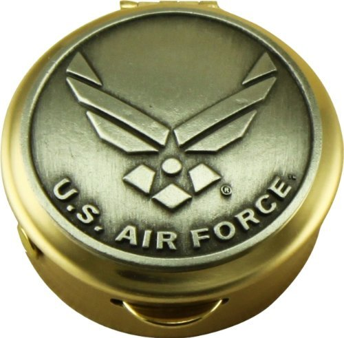 Son Sales United States Air Force Polished Brass Pill//Keepsake Box Pyx with detailed Air Force Pewter military logo 36AF