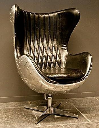 lounge sessel echt leder schwarz. Black Bedroom Furniture Sets. Home Design Ideas